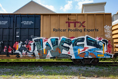 (o texano) Tags: houston texas graffiti trains freights bench benching defthreats dts wyse weez adikts a2m d30