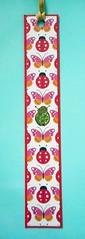BM14 - Handmade bookmark (tengds) Tags: bookmark handmade ladybug butterfly red white papercraft tengds
