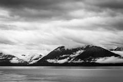 Turnagain Arm (mlhell) Tags: alaska blackwhite clouds landscape mountains nature turnagainarm
