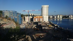 Liljeholmskajen (skumroffe) Tags: liljeholmskajen rstadalshamnen jm construction bygge baustelle liljeholmen rstadal stockholm sweden kranar cranes gruas grues byggarbetsplats rstabron