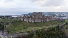 Dover Castle - flying from the rear of the castle overlooking town and harbour. (The Urban Adventure) Tags: dover england unitedkingdom gb dji djiphantom phantom4 drone flying landrover lowepro quadcopter aerial photography