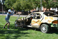 TKE Car Smash Fundraiser (dailycollegian) Tags: tke frat fundraiser cancer stjude 91216 jessicapicard umass umassamherst universityofmassachusetts universityofmassachusettsamherst car sledgehammer
