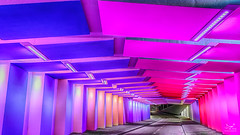 Colours might brighten up your life. (dejongbram) Tags: colour color tunnel zutphen architecture traffic bright city road nikon tiles 3leggedthing kostverlorentunnel