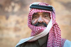Face from Wadi Rum - Jordan (M. Khatib) Tags: face jordan wadirum desert beduin kafiyya headdress portrait oldman streetphotography wrinkles culture heritage ancient bokeh