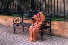Gamel the Sage of Fes (David K. Edwards) Tags: man elderly wise cane bench fes fez morocco moroc gamel