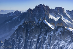 Jaggy blue (.Nao) Tags: air blue white snow ice cliff trip altitude chamonix trek ridge solid nature landscape travel france sky mountain skyscape aiguilledumidi midi montblanc grandes jorasses alpsglacier