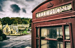 Hanging on the telephone (Blaydon52C) Tags: blanchland northumberland northeast northumbria telephone red box phonebox phone derwent durham countydurham hexham rural village