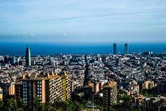 Barcelona (labrume st photography) Tags: buildings barcelona bridge view sea streets calles mountain tower agbar rambla