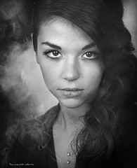 Light and smoke (Soloross) Tags: girl smoke light portrait eyes beauty studio model concept sguardo occhi blackandwhite biancoenero bellezza fumo luce ritratto ragazza woman donna face viso