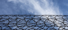 how high (Greg Rohan) Tags: bluesky blue protection security wire photography barbedwire 2016 d7200