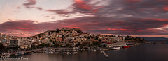 City at dusk (Mavroudakis Fotis) Tags: symbol past early nature island city sky evening vacation mountain house holiday sea medieval antique historic beauty harbor europe typical traditional culture path tourism travel old panorama village europa ancient fort history light outdoor home place morning coastline water urban night town abstract seaside cityscape buildings historical landmark river landscape coast mountains beach destination abandoned accommodation riviera photography background dusk pirates twilight greece kavala mediterranean aegean