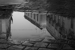 riflessi a Siracusa (Marco Brunetti) Tags: reflections sicily syracuse water rain pentaxk30 hdpentaxda1685