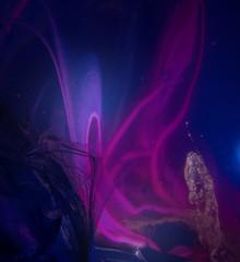 Potassium Nocturne (Sea Moon) Tags: purple pink flames gel polyethyleneoxide polyox peg solution slime paint acrylic