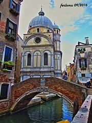 Venecia-17 canal y puente (ferlomu) Tags: arquitectura canal ferlomu iglesia italia puente venecia