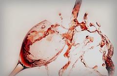 When you had one too many (Wim van Bezouw) Tags: wine glass splash drip object sony ilce7m2