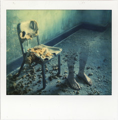 Hospital Ghost (///Brian Henry) Tags: polaroidweek roidweek roidweek2016 impossible abandoned urbex decay ghost hospital maryland