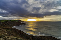 Sunset at Millook Haven (Dixie Deane) Tags: millookhaven northcornwallcoast cliffs distagont2821ze zeiss wideangle