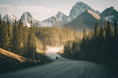 Mountain cruising. (Bokehm0n) Tags: landscape nature vsco explore flickr earth travel folk 500px canada kananaskis vacation vscofilm mountain wood scenic conifer pinnacle evergreen valley peak winter outdoors daylight tree glacier sky ice snow
