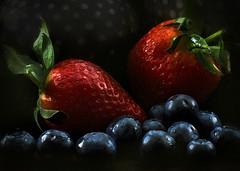 berry good (Hal Halli) Tags: stilllife berries strawberry blueberries fruit wallart harvest sharingart summer kitchen