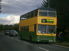 2989 @ Becketts Farm (ianjpoole) Tags: the green bus mcw metrobus mk2a e989vuk 2989 becketts farm part wmpte 30 1970s 1980s operations happy hour