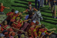 High Five To Go (Culture Shlock) Tags: horses college football coliseum usc highfive cheer tommytrojan universityofsoutherncalifornia celebrate traveler ncaafootball collegefootball