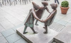For many decades, the statute of the Fiddler of Dooney has been a lovely centrepiece of the Stillorgan Shopping Centre Ref-100119