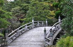 Weathered Bridge (Seeing Visions) Tags: bridge trees japan pine garden kyoto jp weathered bushes finial 2014 arched kyotoimperialpalace raymondfujioka