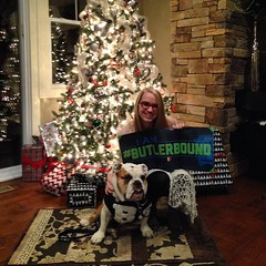 """When your Pop is my official veterinarian, your #ButlerBound packet must be paw-delivered. Congrats Emma Phillips! • <a style=""""font-size:0.8em;"""" href=""""http://www.flickr.com/photos/73758397@N07/15870138869/"""" target=""""_blank"""">View on Flickr</a>"""