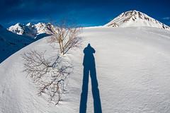 Snowy selfie (Michel Couprie) Tags: winter shadow mountain snow france alps montagne alpes canon eos hiver pass ombre fisheye 7d michel col selfie hautesalpes lautaret couprie