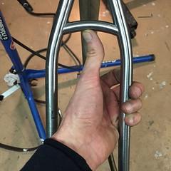 Seat stay bridge. #weavercycleworks #custombicycles