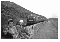 D833 on Dawlish prom.  Easter 1961 (Brit 70013 fan) Tags: dawlish 1961 d833 panther diesel railway engine devon cornishrivieraexpress 1stgenerationdieselhydraulic warship class