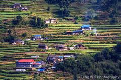 Hillside Village, Shikha-Ghorepani, Annapurna Circuit, Nepal (Feng Wei Photography) Tags: travel nepal light color horizontal rural landscape asia village terrace outdoor scenic remote annapurnacircuit annapurna secluded shikha bagmati annapurnaconservationarea