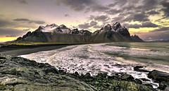 Vestrahorn in Iceland (Nick L) Tags: sea mountain mountains canon eos blacksand iceland 1635 hofn 1635l vestrahorn stokksnes southeasticeland vesturhorn brunnhorn canon1635lii eos5dmarkiii kambhorn canon5dmark3 eos5dmark3 eos5dmkiii