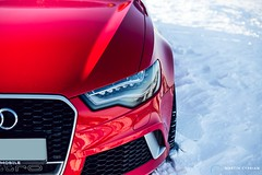 Audi RS6 Avant (CypoDesign) Tags: winter red white snow lightpainting car forest germany power automotive slovakia audi supercar avant germancar rs6 cyprian