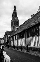 2015 - 04 - Leicester Cathedral & Guildhall (1amth3mi55ingl1nk) Tags: blackandwhite bw white black monochrome project blackwhite cathedral leicester 52 guildhall 2015