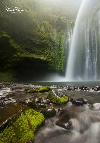 Tiu Kelep Waterfall, Lombok Island.