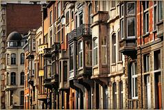 Maisons  balcons et loggias, quai des Ardennes, Lige, Belgium (claude lina) Tags: architecture belgium belgique maisons lige urbanisme wallonie balcons loggias provincedelige quaidesardenneslige