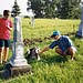 Adem & Ali at the old cemetery in what used to be LaPorte, one of the earliest settlements in Wayne county, NE