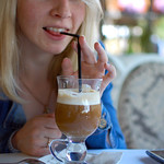 "Girl drinking cappuccino<a href=""http://www.flickr.com/photos/28211982@N07/16133690529/"" target=""_blank"">View on Flickr</a>"