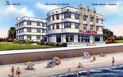 Carlisle Hotel Miami Beach FL (Edge and corner wear) Tags: art vintage hotel pc postcard moderne streamlined deco streamline