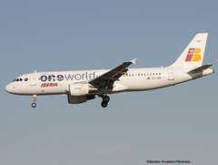 Oneworld (IBERIA) (Jacques PANAS) Tags: airbus iberia oneworld a320214 ecizr msn2242