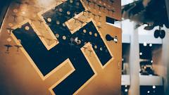 One Upload a Day #52 Luftwaffe (Alex B Blackburn) Tags: uk greatbritain color colour london tourism museum germany europe european unitedkingdom britain aircraft capital swastika southbank worldwar touristattraction raf bulletholes worldwar2 harrier secondworldwar imperialwarmuseum luftwaffe bigsmoke tailwing