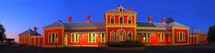 Hay Railway Station Panorama (Darren Schiller) Tags: panorama building station architecture dusk australia newsouthwales hay railways