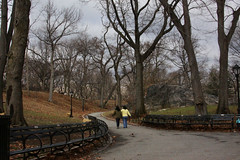 Central Park Paths (lefeber) Tags: city nyc newyorkcity trees urban newyork vanishingpoint downtown path centralpark branches perspective sidewalk benches