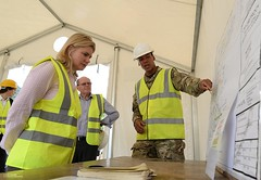 Justine Greening Being Briefed in Sierra Leone (Defence Images) Tags: uk man male army military relief aid sierraleone soldiers government british op briefing operation sle defense defence disease personnel freetown ebola kerrytown humanitarianaid identifiable dfid justinegreening ukaid gritrock
