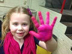 School Girls Pink Palms Grand Rapids Montessori 2-9-15 (stevendepolo) Tags: pink school girls palms hands grand rapids montessori