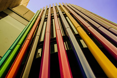 Coloured pipes of peace (Tony Shertila) Tags: england signs colours britain letters shops merseyside eurpe
