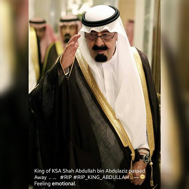 King of KSA Shah Abdullah bin Abdulaziz passed Away ...   #RIP #RIP_KING_ABDULLAH .