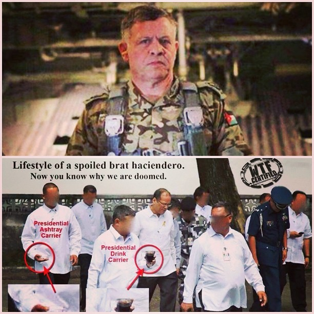 #SpotTheDifference #Jordan #King after ISIS burns 1 pilot in comparison to #NasaanAngPangulo #Fallen44 #BossBaTalaga #BusabosKamo #AshtrayPaMore #BRAT