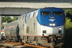 AMTRAK PO91 AT WEST PALM BEACH, FL (railfan1967) Tags: west beach silver star florida palm amtrak ge 148 p42dc po91
